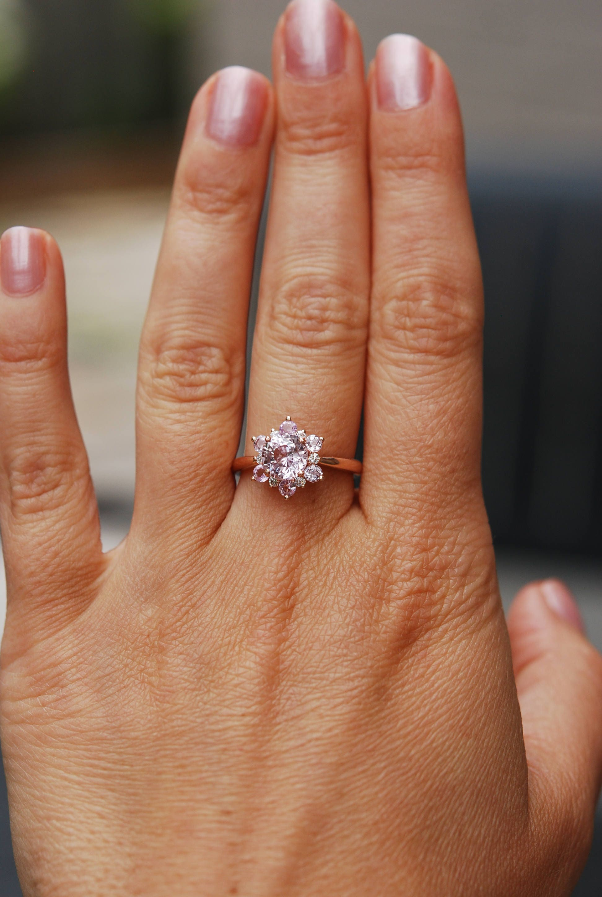 photo fullxfull gallery round snowflake engagement sapphire il listing peach pink ring