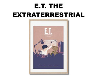 E.T. The Extra Terrestrial Movie Print - Poster Steven Spielberg A3