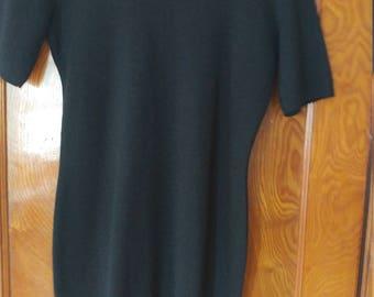 Black wool RODIER sweater dress made france