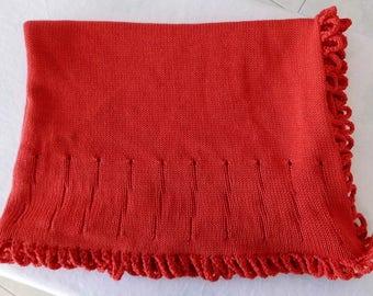 babyblanket, knitted blanket, stroller blanket, merinowool, wool blanket, knitted baby blanket, loops, merino, wool