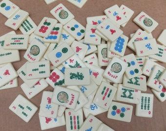 Plastic Mahjong Tiles - White Plastic Mahjong Tiles, Craft Mahjong Tiles