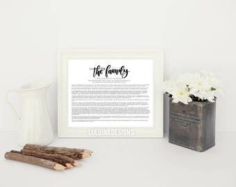 Hand Lettered Print-The Family: Hand Drawn Art Print