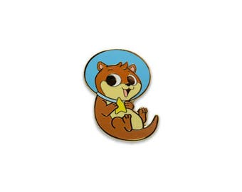 """Limited Edition Otter Space 1.25"""" Inch Hard Enamel Pin"""