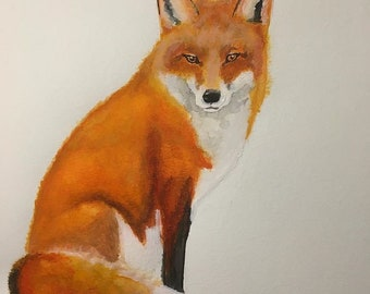Fox painting, A4