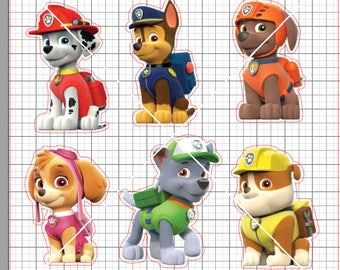 Paw Patrol Personajes Patrulla Canina Sillhouette Cameo Png Jpg Printable