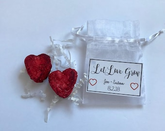 Wildflower Heart Seed Bomb Wedding Favors. Wedding Favors. Customizable. Seed Bombs. Seedbombs. Seeds. Let Love Grow.