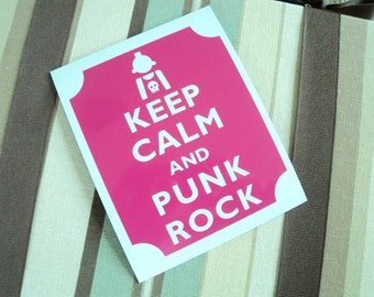 Keep calm punk rock fridge magnet