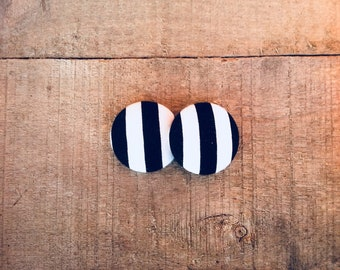Black & White Striped Fabric