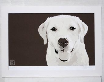 Yellow Labrador ART PRINT