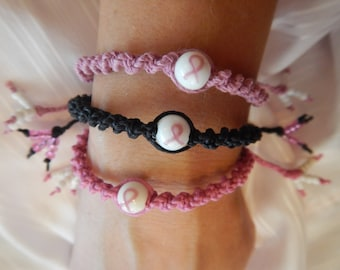 Breast Cancer Bracelets,Hemp Jewelry,Breast Cancer Jewelry,Support Breast Cancer Bracelets,Hemp Bracelets,Breast Cancer Charms,Hemp