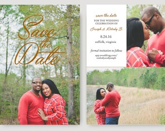 Personalized Printable Save the Date- Clean and Elegant