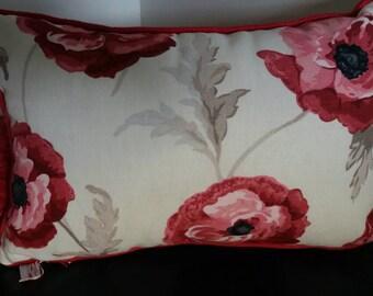 Handmade Laura Ashley freshford poppy cushion