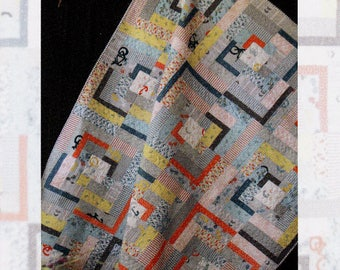 Sale!  Sale!   POST AND BEAM Quilt Pattern   Fat Quarter Friendly!  By Beyond The Reef    btr-044