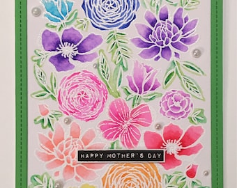 Mother's Day Card - Watercolor Florals