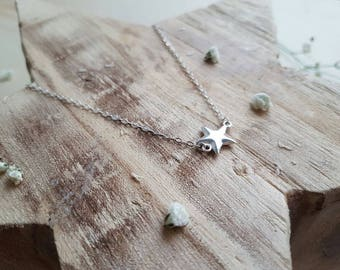 Star necklace in silver 925 sterling/star necklace/silver necklace / minimalist necklace/ silver jewelry / minimalist jewelry