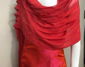 Carolina Herrera Red Silk Gown