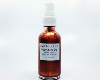 Bronzing Body Oil, Organic and Vegan