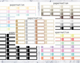 Appointment Boxes // Planner Stickers