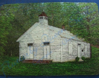 Clear Springs Presbyterian Church ACEO mini print special limited edition of 20