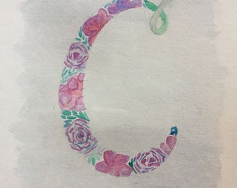 Floral Initial Letter