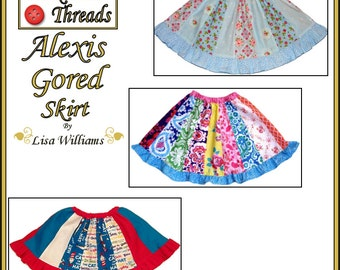 INSTANT DOWNLOAD: Alexis Gored Skirt - DiY Tutorial PdF eBook Pattern - Sizes 2 to 16