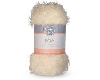 Fair Isle Boa Nylon Polyester Yarn, Super Bulky Weight Knitting and Crochet Yarn, Vegan Yarn, Vegan fur, 100g