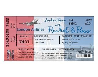DIY Printable Invitation Boarding Pass Invitation  London Rave invitation bride party invitation Airline Ticket invite printable