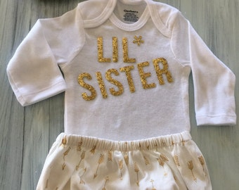 The Lisa- Pretty in Gold Lil Sister outfit