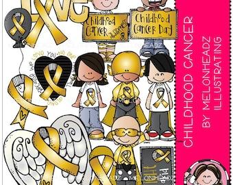 Childhood Cancer clip art - Awareness - COMBO PACK