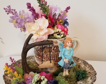 Fairy with tree swing