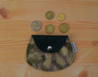 Leather coin purse,leather change purse,change purse leather,camo leather,camo coin purse,,green coin purse,mens coin purse,minimalist purse