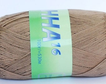 Crochet thread size 10, mercerized cotton, ANNA, 100g/ 579 yds #365