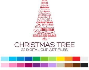 Christmas Clipart Clip Art Christmas Digital Clipart Digital Christmas Tree Clipart Winter Clipart Forest Clipart Santa Clipart Sale-A90004