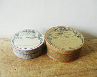2 antique french cardboard pharmacy box, 1900s-1920s, Vintage Apothicary, Boite pharmacie ancienne, France, Carton