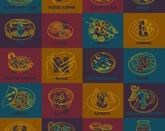 An Indian Food Alphabet- Poster