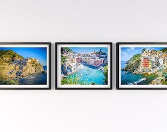 SALE, Cinque Terre Photography, Italy, 3 Fine Art Prints, Riomaggiore, Vernazza, Manarola, Italian Wall Art, Italy Fine Art, Italy Wall Art