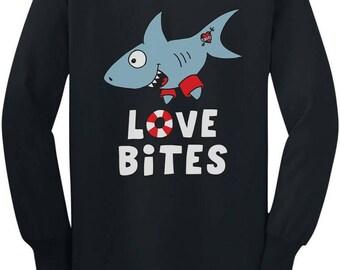 Love Bites Funny Valentine's Day Gift Toddler/Kids Long sleeve T-Shirt