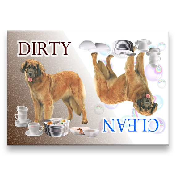 Leonberger Clean Dirty Dishwasher Magnet