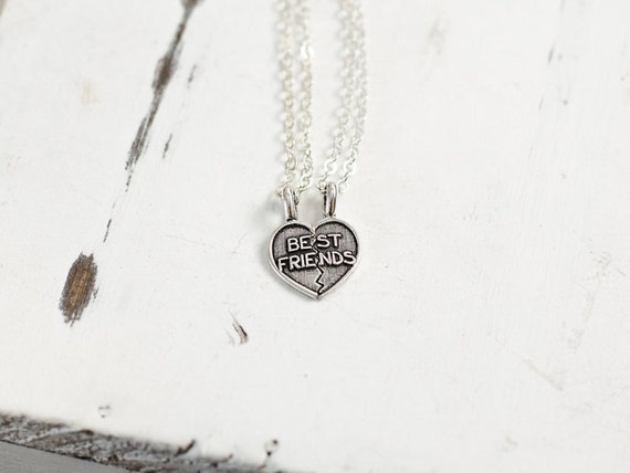 Best Friends Necklace Set | Sterling Silver Heart Necklaces