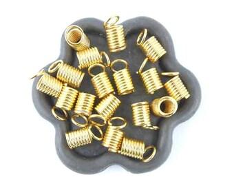 x 50 caps spring Golden tube 5mm (35)