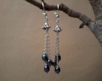 Wind Chimes - Freshwater pearls and sterling