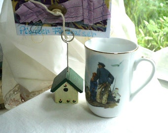 Coffee Mug, Nautical, Norman Rockwell, Ceramic Mug, Mug, Gift For Men, Anniversary Gift, Retirement Gift, Teacher Gift, Boyfriend Gift