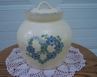 East Texas Spring Heart Cookie Jar