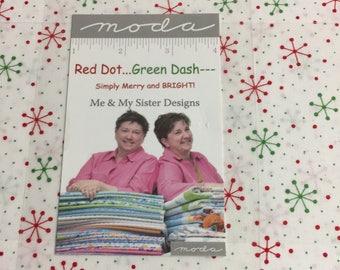 Red Dot...Green Dash--- layer cake