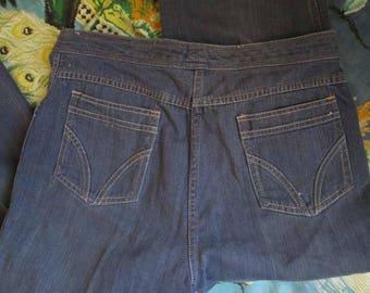 High Waist Vintage 80s blue jeans 80s straight leg high waist jeans Vintage Blue denim jeans 32 32