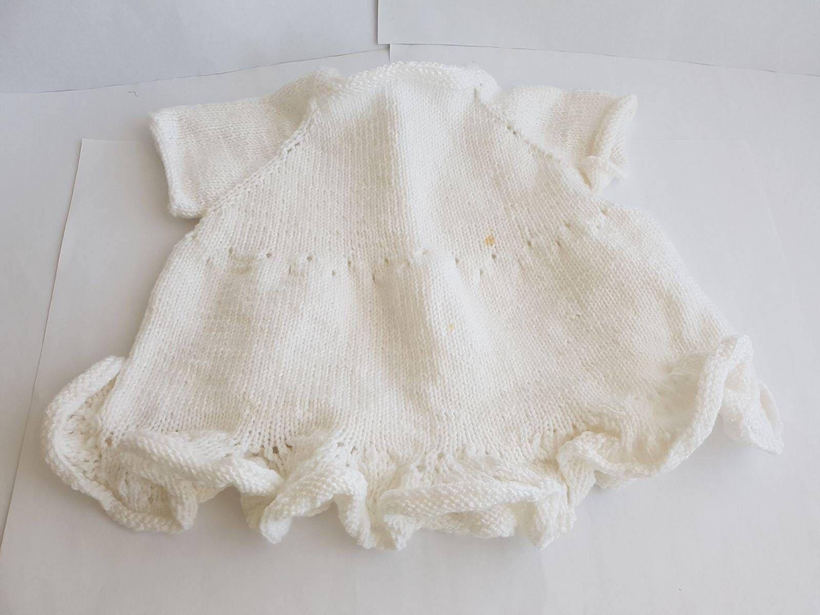 Babygirl dress baptism dress knitted dress