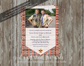 Eagle Scout Court of Honor Invitation-Stars & Stripes group design-Digital File