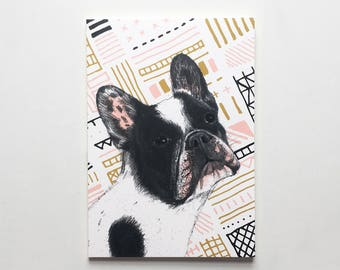 Pack of 3 French Bulldog Notepads / French Bulldog Notebooks / Dog Jotters