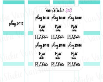 W037| Hand lettering - Play Date