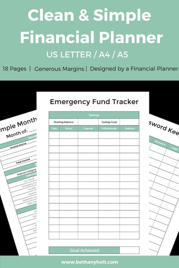 simple budget planner printable